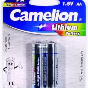Комплект батареек Camelion, АА литиевые, FR6-BP2 -AA